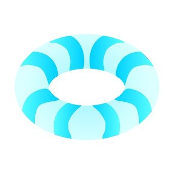 Floating wheel (blue)