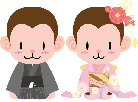 Monkey (Haori Hakama · Kimono) Set
