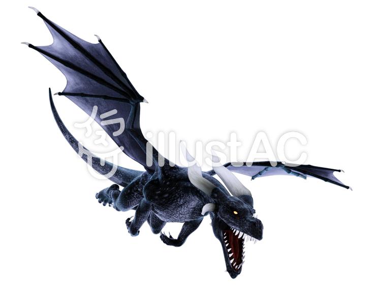 飛翔するドラゴンのイラスト
