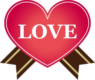 LOVE 's letter Heart label