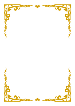 아시아 풍의 프레임 3 (금 차)