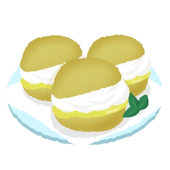 Plated cream puff