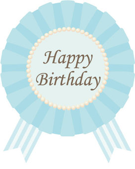 Chiffon rosette (birthday _ light blue)