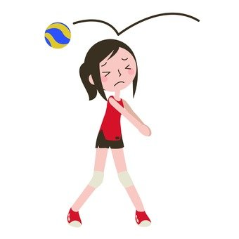 Women who play a volleyball