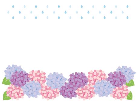 Hydrangea and rain frame