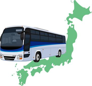 Bus Japan Map Travel