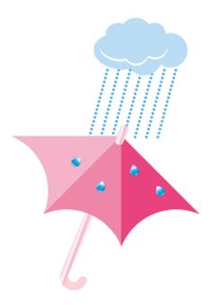 Umbrellas - Pink