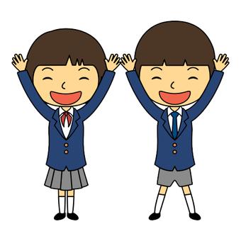 小學學生製服男孩女孩4