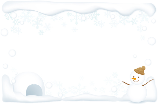 Snow background (background transparent)