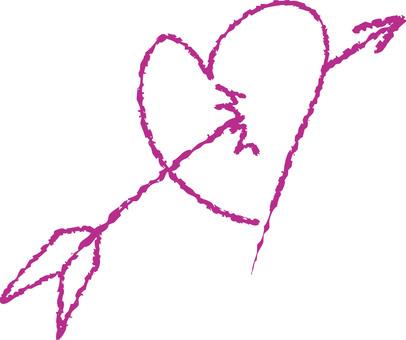 Heart with arrows (purple)