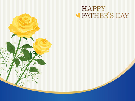 Curve of Father's Day rose message card 02