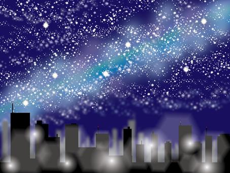 Night sky _ building