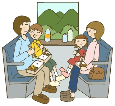 Train trip family