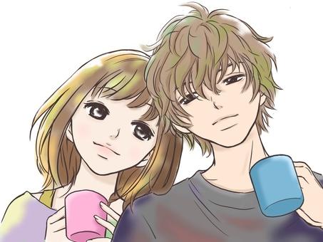 カップル・コーヒーカップ