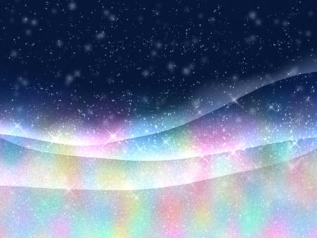 宇宙。オーロラ。壁紙。