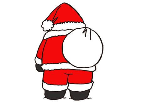 The back of Santa -1