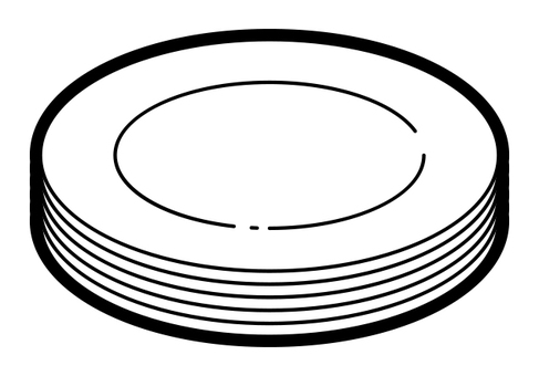 Overlapped dishes