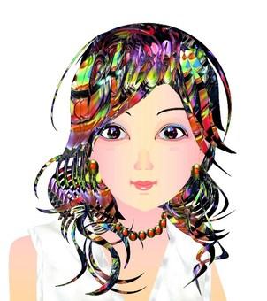 Avant-garde hairstyle