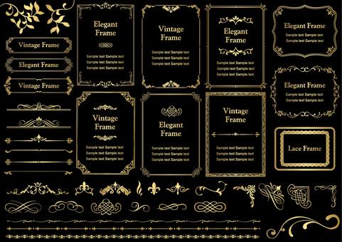 Vintage & elegant frame _ gold