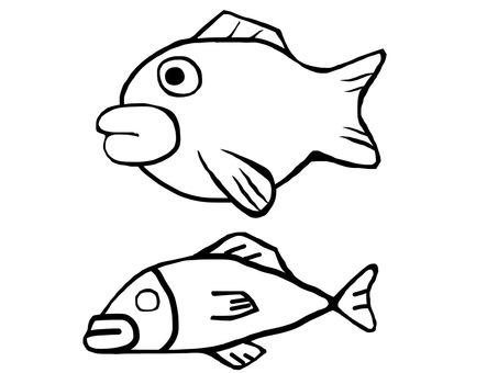 Fish Black and White