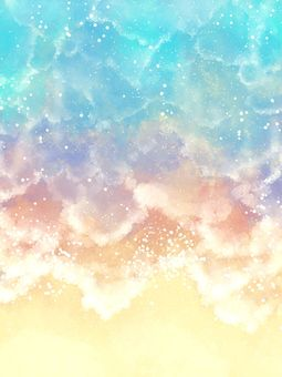 Sea watercolor background material 04 / a