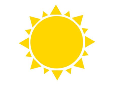 노란 태양 흰색 경계선 투과