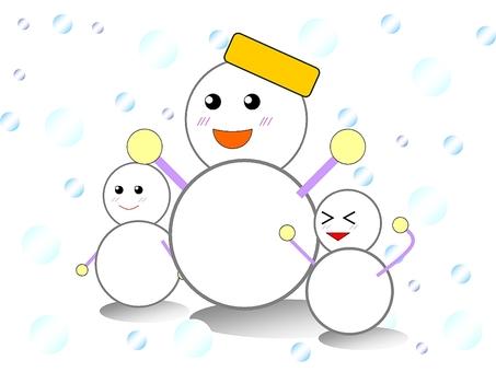 Snowman parent and child
