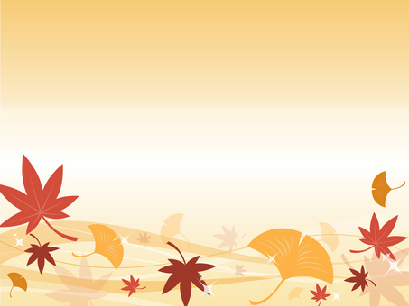 Autumn background (autumn leaves & ginkgo)