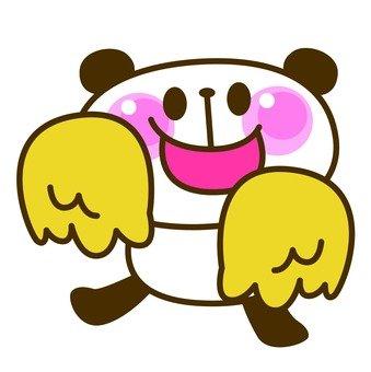 Panda cheering