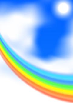 Sky and rainbow