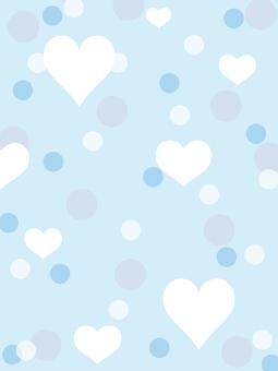 Heart and polka dot, light blue