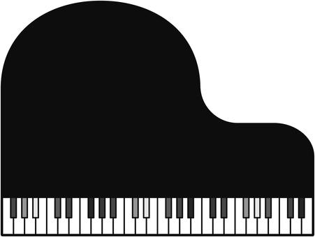 ピアノのフレーム(グレー)