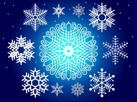 Snow crystal No 1