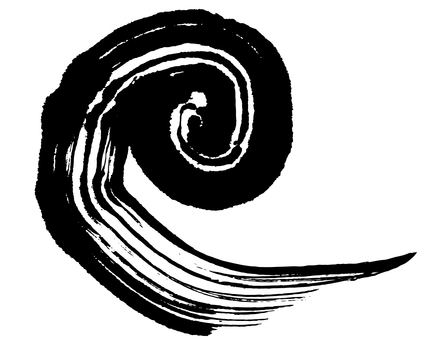 Vortex spiral brush illustration