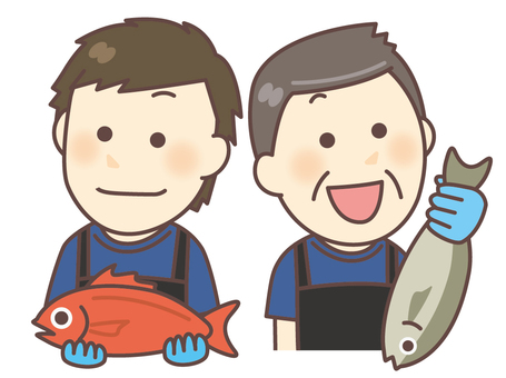 Fish shop / fresh fish corner staff 03