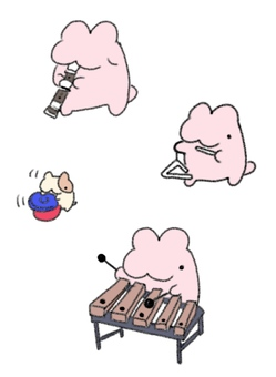 Rabbit and Hamster Musical Instruments