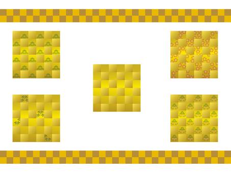 Gold lattice pattern