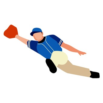 Diving catch 1