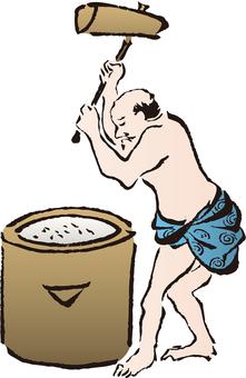 Ukiyo-e mochi with mochi