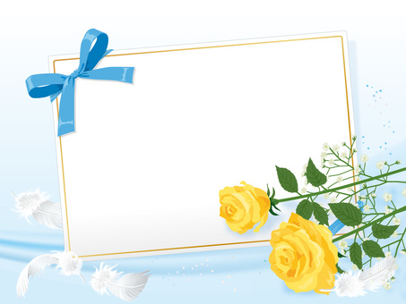 Yellow Roses and Cardoso Card Background 06