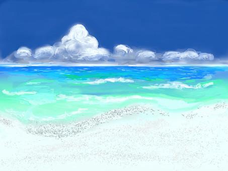 여름 풍경 바다 02