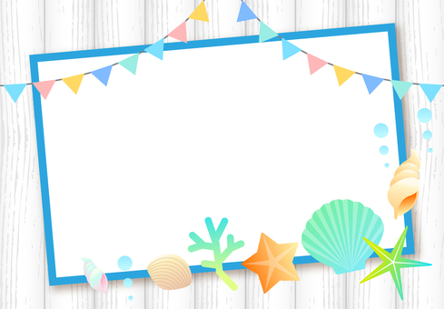 Cute summer frame