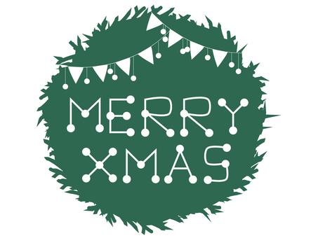 圣诞花环留言卡(绿色)