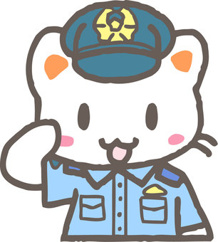 Police Officer Cat