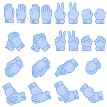 手套(藍色)