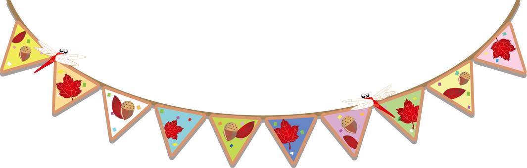Triangle flag autumn