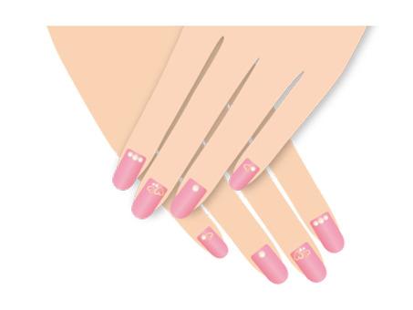Nail pink fingertip