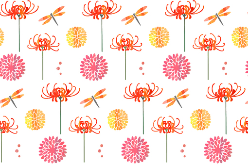 Autumn flower pattern