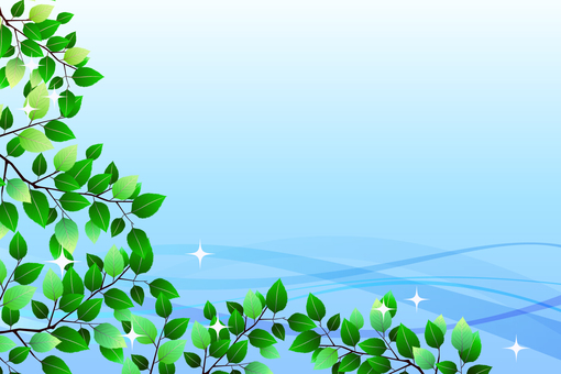 Fresh green wave blue