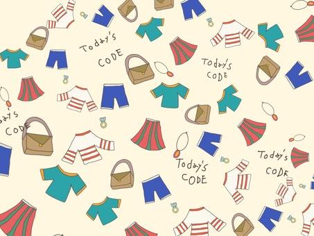 Clothes illustration wallpaper